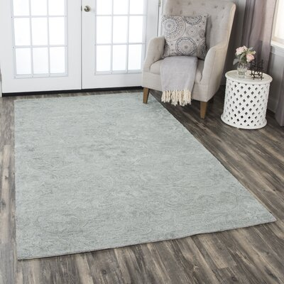 Etheredge Hand-Tufted Wool Gray Area Rug Rug Size: Rectangle 9 x 12