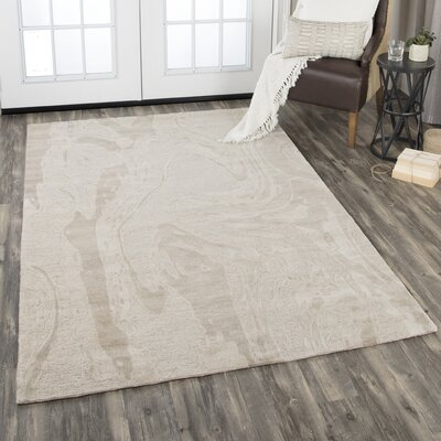 Etheredge Hand-Tufted Wool Beige Area Rug Rug Size: Rectangle 8 x 10