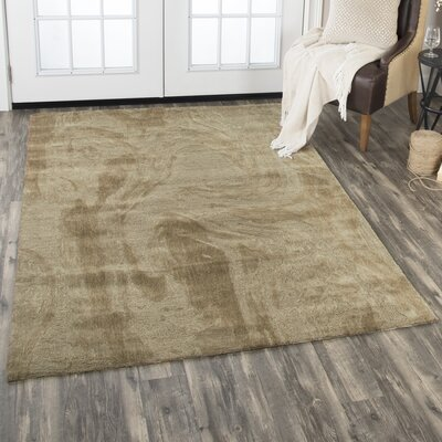 Etheredge Hand-Tufted Wool Brown Area Rug Rug Size: Rectangle 10 x 13