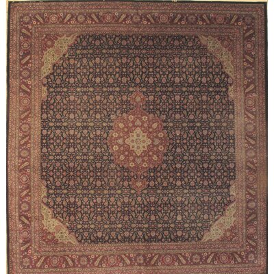 Turkish Sivas Hand-Knotted Wool Brown Area Rug