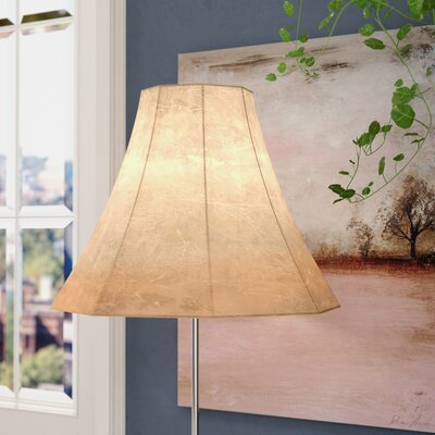 Faux Leather Bell Lamp Shade Size: 16 W x 16 D x 12 H