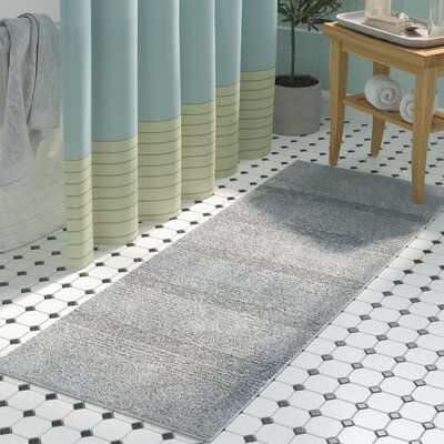 Herleston Brette Bath Rug Size: 2 x 3 4, Color: Platinum Gray