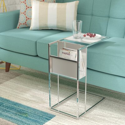 Christi End Table Color: White