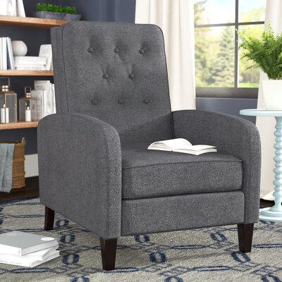 Apfel Manual Recliner Upholstery: Dark Gray