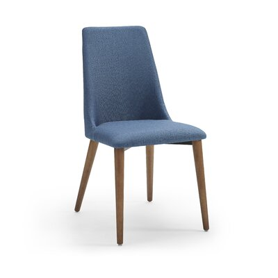 Crossreagh Upholstered Dining Chair (Set of 4) Upholstery: Blue