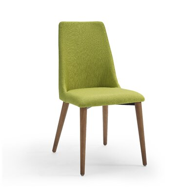 Crossreagh Upholstered Dining Chair (Set of 4) Upholstery: Green