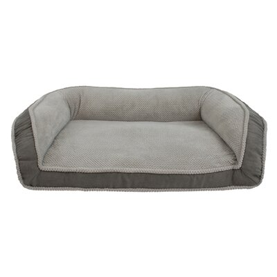 Deep Seated Lounger Dog Sofa Size: Large (40 W x 25 D x 13 H), Color: Charcoal Gray