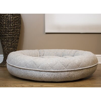 """Donut Lounger And Cuddler Style Bolster Size: Medium (30"""" W X 30"""" D X 9"""" H), Color: Gray"""