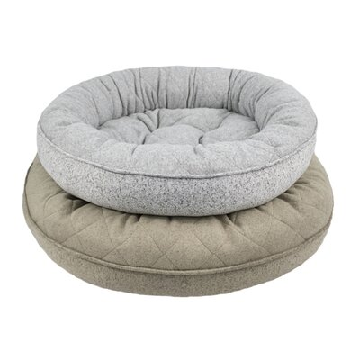 Donut Lounger and Cuddler Style Bolster Size: Medium (30 W x 30 D x 9 H), Color: Cocoa Tan