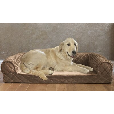 Orthopedic Bolster Size: Medium (40 W x 30 D x 8 H), Color: Toasted Coconut Dark Tan