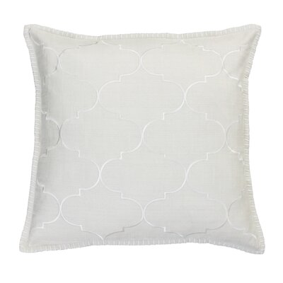 Eltingville Whipstitch Embroidered Throw Pillow  Color: Natural