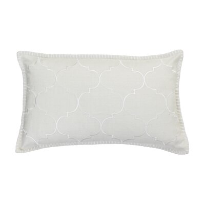 Eltingville Whipstitch Embroidered Lumbar Pillow Color: Natural
