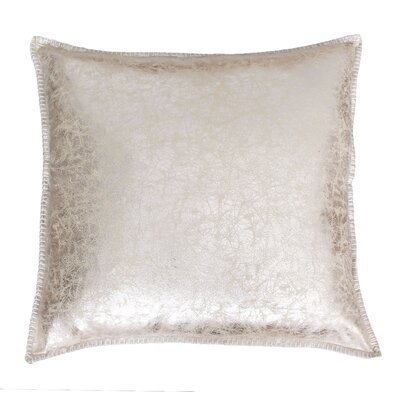Millbrook Crackle Whipstitch Throw Pillow Color: Gold