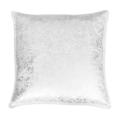 Millbrook Crackle Whipstitch Throw Pillow Color: Silver