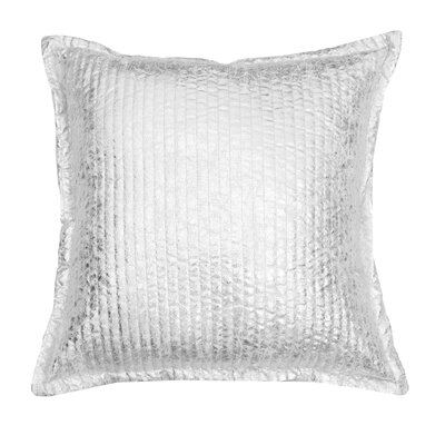 Millender Crackle Throw Pillow Color: Silver Crackle