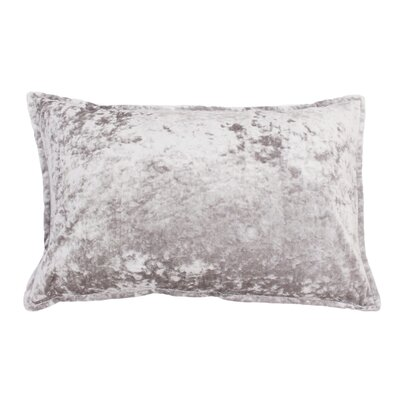 Millbourne Ice Velvet Lumbar Pillow Color: Silver Gray Ice