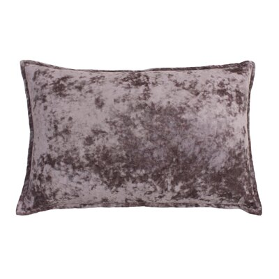 Millbourne Ice Velvet Lumbar Pillow Color: Nirvana Purple Ice