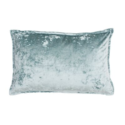 Millbourne Ice Velvet Lumbar Pillow Color: Harbor Blue Ice