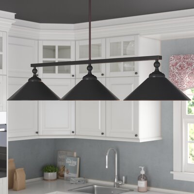Debra 3-Light Kitchen Island Pendant Finish: Oil Rubbed Bronze