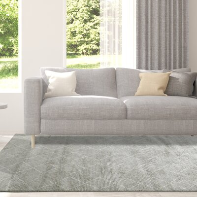 Cressex Hand-Woven Gray Area Rug Rug Size: Rectangle 8 x 10