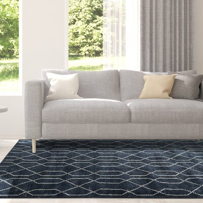 Lakey Hand-Woven Indigo Area Rug Rug Size: Rectangle 4 x 6
