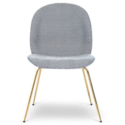 Amalfi Upholstered Dining Chair Upholstery Color: Geo Navy