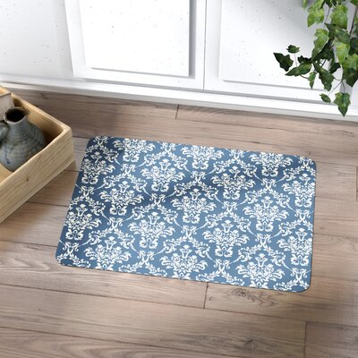 Swofford Kitchen Mat with Rubber Backing Mat Size: 22 x 31, Color: Blue
