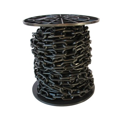 Decorative Lightweight Chain Finish: Black, Size: 8.25 H x 8.25 W x 8.75 D