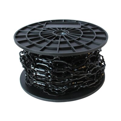 Decorative Solid Cathedral Chain Finish: Black, Size: 8.75 H x 8.25 W x 4.75 D