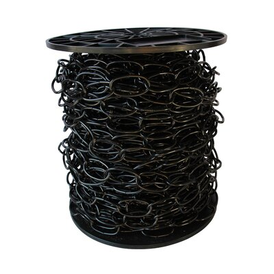Decorative Solid Standard Link Fixture Chain Finish: Black, Size: 8.25 H x 8.25 W x 4.75 D