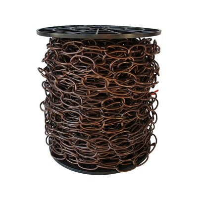Decorative Solid Standard Link Fixture Chain Finish: Antique Copper, Size: 8.25 H x 9.25 W x 9.25 D