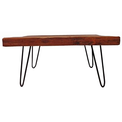 Dallas Coffee Table Size: 19.5 H x 39.5 W x 33 D, Table Top Color: Natural/Unfinished