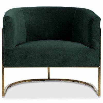 Lisbon Barrel Chair Upholstery: Hunter Green