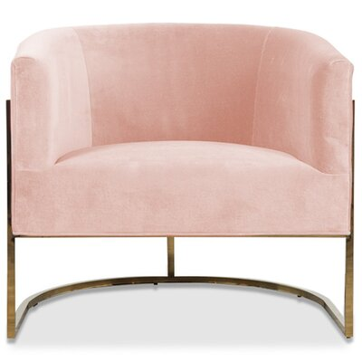 Lisbon Barrel Chair Upholstery: Blush Pink