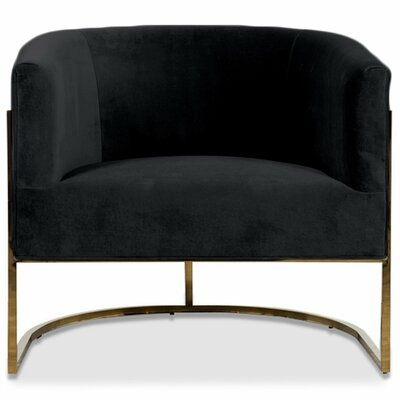 Lisbon Barrel Chair Upholstery: Black