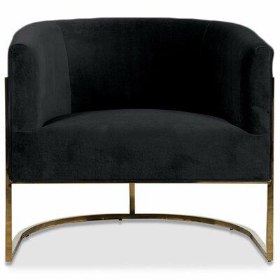 Lisbon Barrel Chair Upholstery: Black