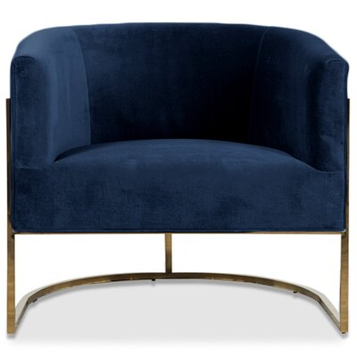 Lisbon Barrel Chair Upholstery: Indigo Blue