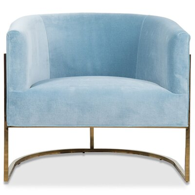 Lisbon Barrel Chair Upholstery: Capri Blue