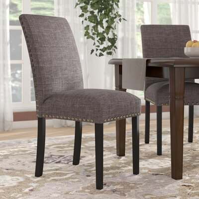 Ellettsville Upholstered Dining Chair Upholstery: Stone Gray