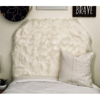 Hosley Mongolian Fur Beveled Twin/Twin XL Upholstered Panel Headboard Upholstery: Off-White