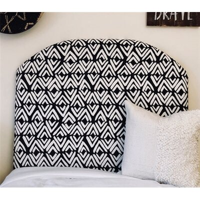 Houck Arched Twin/Twin XL Upholstered Panel Headboard Upholstery: Ink