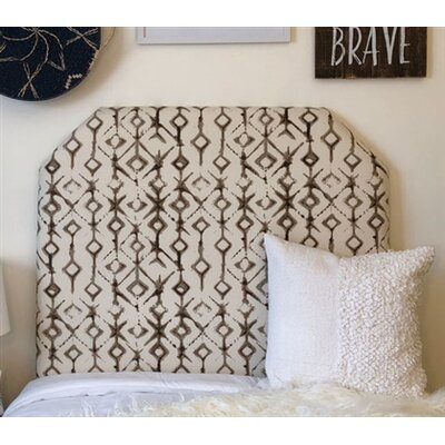 Honn Beveled Twin/Twin XL Upholstered�Panel Headboard Upholstery: Black