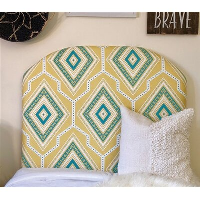 Houpt Arched Twin/Twin XL Upholstered Panel Headboard Upholstery: Yellow