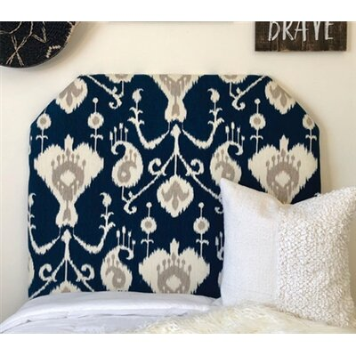 Cornwall Beveled Twin/Twin XL Upholstered Panel Headboard Upholstery: Navy