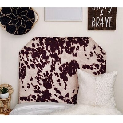 Horst Cow Hide Beveled Twin/Twin XL Upholstered Panel Headboard Upholstery: Brown