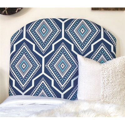 Houpt Arched Twin/Twin XL Upholstered Panel Headboard Upholstery: Navy