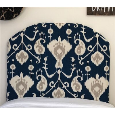 Heathcote Arched Twin/Twin XL Upholstered Panel Headboard Upholstery: Navy
