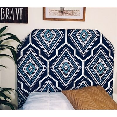 Housel Beveled Twin/Twin XL Upholstered Panel Headboard Upholstery: Navy