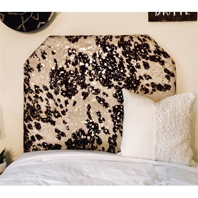 Horst Cow Hide Beveled Twin/Twin XL Upholstered Panel Headboard Upholstery: Brown/Gold