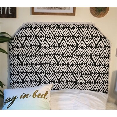 Hough Beveled Twin/Twin XL Upholstered Panel Headboard Upholstery: Ink